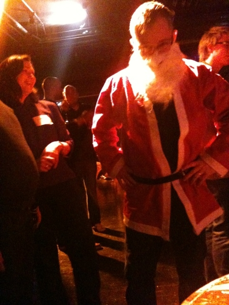 @mikebutcher playing Santa!