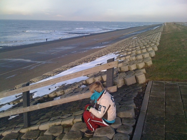 Looking out over the sea @ Pettemer Seawall