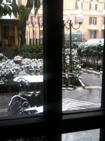 Snowing in Rome
