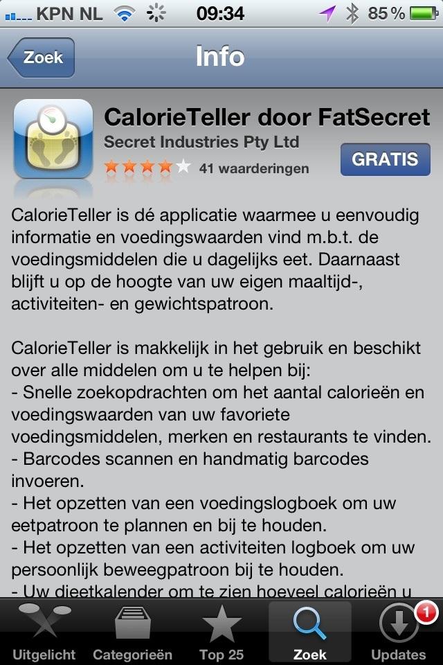 gratis calorieteller