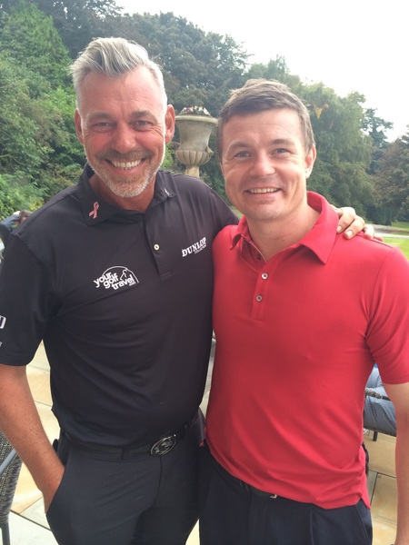 With one of my sporting heroes @BrianODriscoll! Thanks for coming to play today for Paddy and myself!