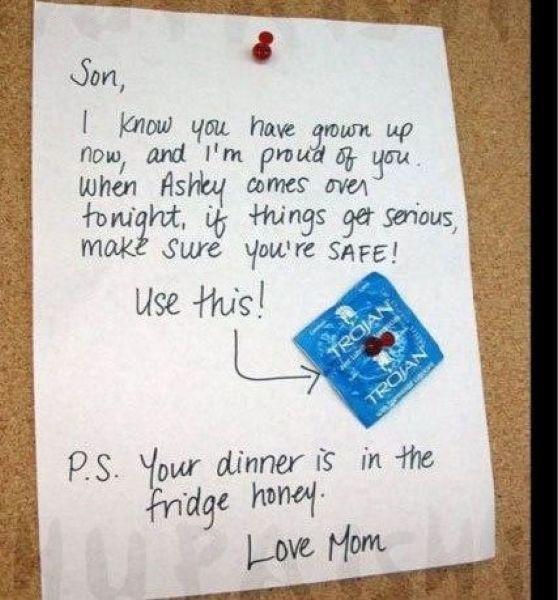 Attent van moeder