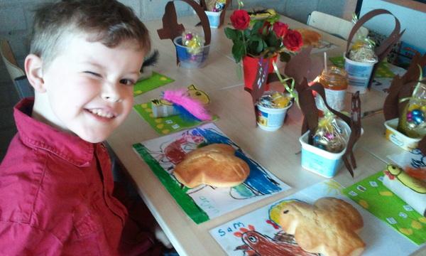 Paasontbijt op school bij Arjen