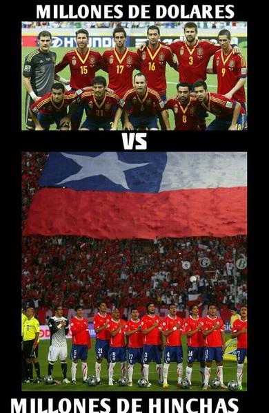 La #Diferencia  #España #Brasil2014 #VamosChileMierda #ChileVSespaña #ElSueñodeTodos #LaRoja