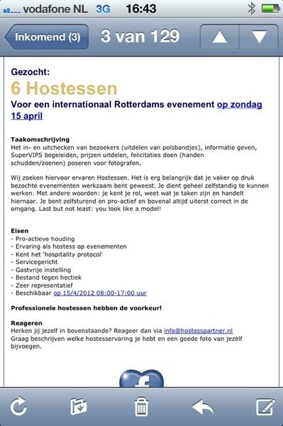 Hostessen gezocht voor een leuk evenement in #Rotterdam Ben jij een gastvrouw in hart en nieren? Mail ons dan! #hostess