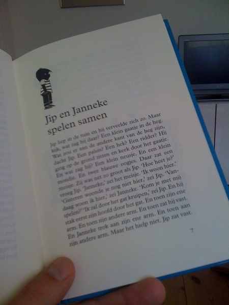Just learned how Jip en Janneke met eachother.