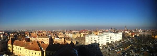 Sibiu de la etajul 9 al hotelului Ramada