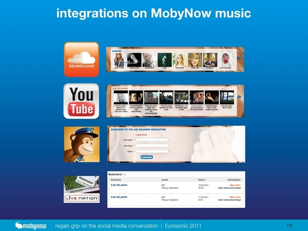 new integrations on #MobyNow I'm about to announce at #esns11