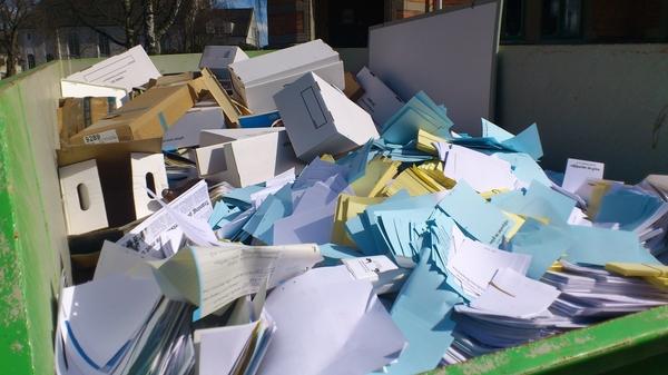Det papperslösa samhället på G - städning i stadshuset idag