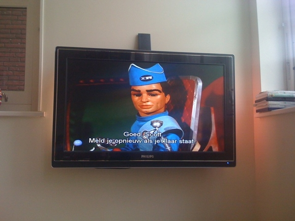 Watching Thunderbirds w/ son