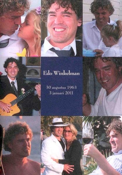 Vandaag de Herdenkingsdienst van Edo Winkelman, onze strandbuurman. Wat mooi en wat een emotie!