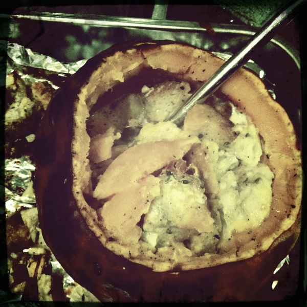 Dinner tonight: stuffed pumpkin and roasted turkey. Lekker