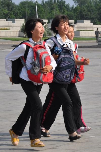 schoolchildren in Pyongyang #NKorea