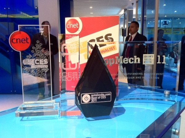 Growing collection of Best of #CES trophies for Intel #2ndGen Core processors