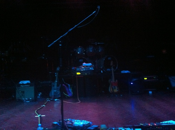 Waiting for Zappa show to start. I was first in the room and got centre position at the front! #win #zappaplayszappa
