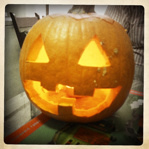 What's the best type of lantern to have during Frankenstorm? A Jack 'O Lantern!