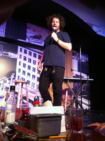 So anyway, yeah, I was able to sneak one quick pic of @realjeffreyross. He let me know he wasn't too happy, but here it is :