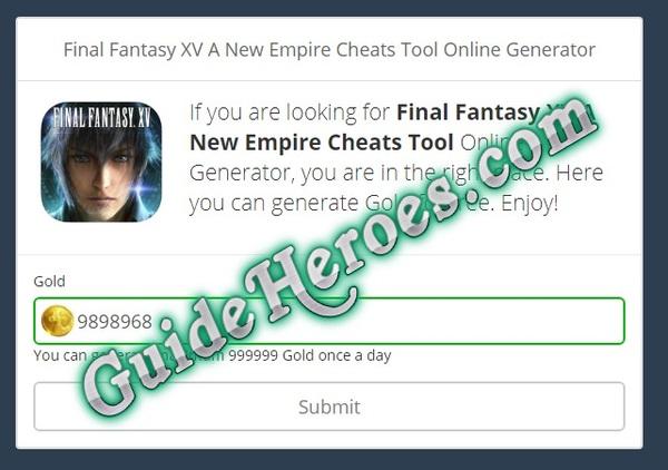 No Survey] Final Fantasy XV A New Empire Cheats by