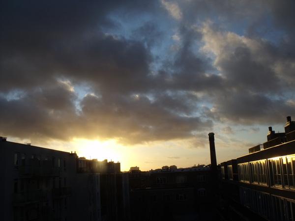 Zonsondergang in Amsterdam, oktober 2013. #buienradar