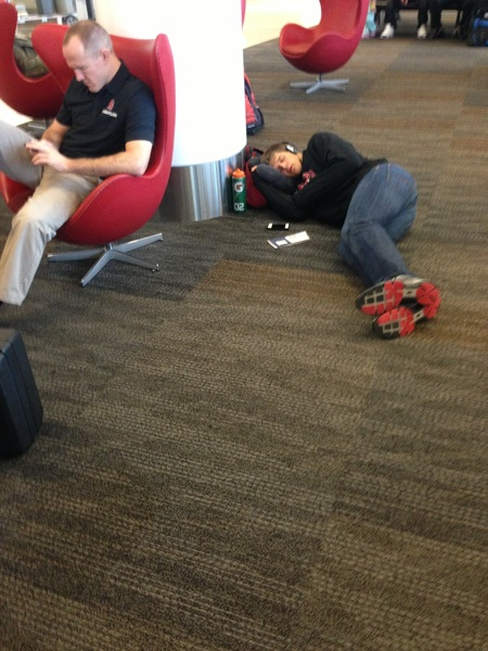 Preflight floor napping:  Location: http://j.mp/XnrgoL #SFO