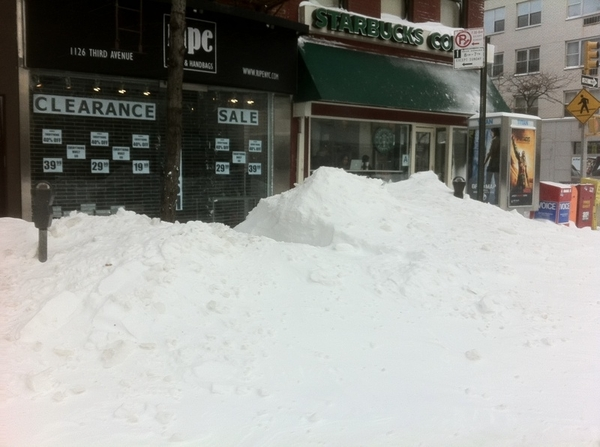 KO's Post-Blizzard NYC No. 9: Not That Much Clearance #blizzard