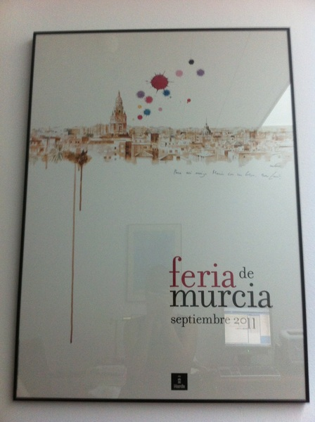 Mi despacho en el #congreso ya es un poquico más murciano gracias a Nono García. Precioso!  :)) #fb