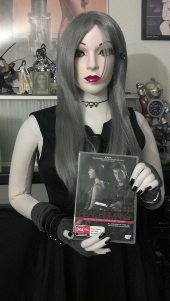 .@lundstromlars Our shiny new copy of Äkta människor series 1, as modelled by @greybrightsea