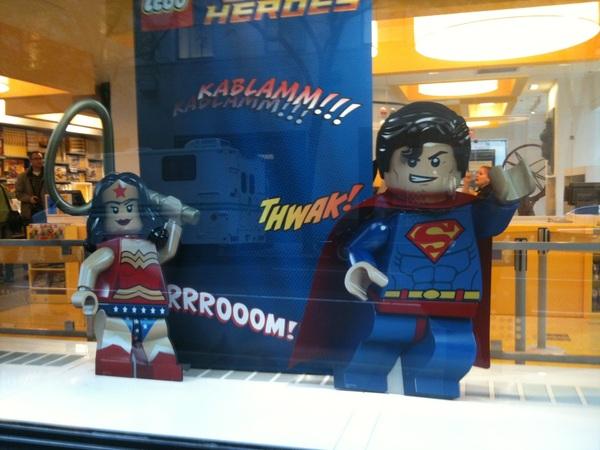 Superhero Lego near Rockefeller Plaza!