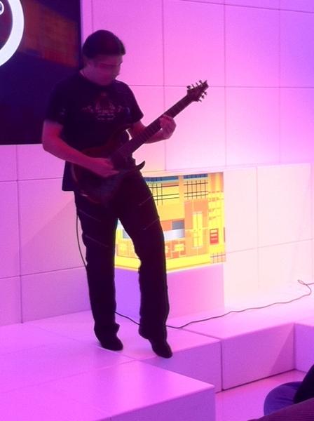 Celebrities at #CES 2011:  Photo of Tiago Della Vega, World's Fastest Guitarist