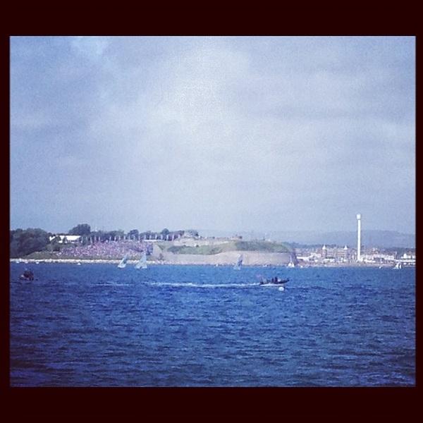 Weymouth Bay it is! Uitzicht vanaf De Holland:-) #zeilvoorgoud