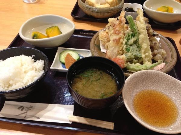 天ぷら定食mgmg