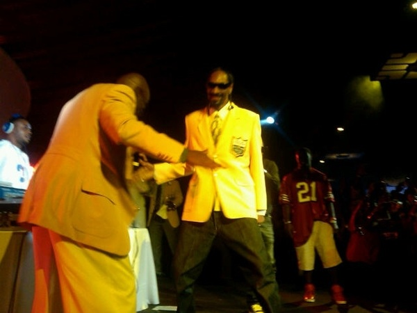 Performing their new song together  @SnoopDogg and  @DeionSanders at  #HOF #Afterparty