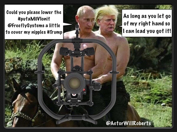 Putin: Move the #putaMōVIonit 2 cover my nipples Trump: its called @FreeflySystems shoot commando #Contest #MōVIPro