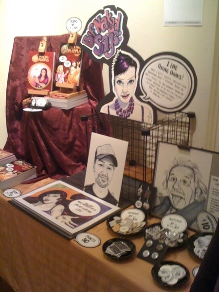 My table at The SpeakEasy Show.