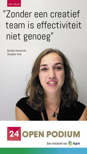 @anniekie1995 was spreker op het #24festival #kpn #willitblend @24openpodium  http://bit.ly/1nbKsbd
