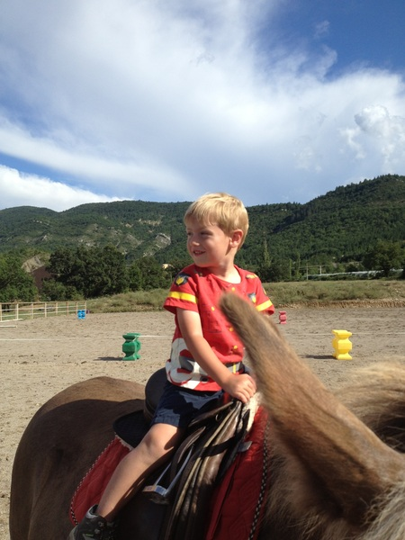 Fletcher of the day: Fletcher's first ride on Jacques