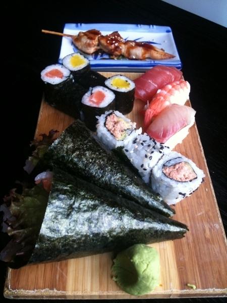 Sushi was delicious!