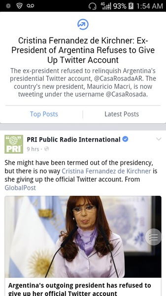 #Argentina Ex president is acting salty & wouldn't give up the Presidential #Twitter handle. #LOL #Voting
