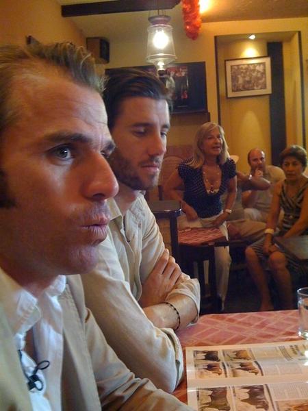 Nacho Moreno de Terry e Israel Lancho en Lo Nuestro con HOY