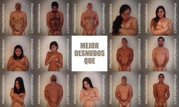 Desnudo Con La  #UCV #ConcluDesnudo  #SOSVENEZUELA #5A #Estudiantes #LucharHastaVencer #Resistencia #Valientes