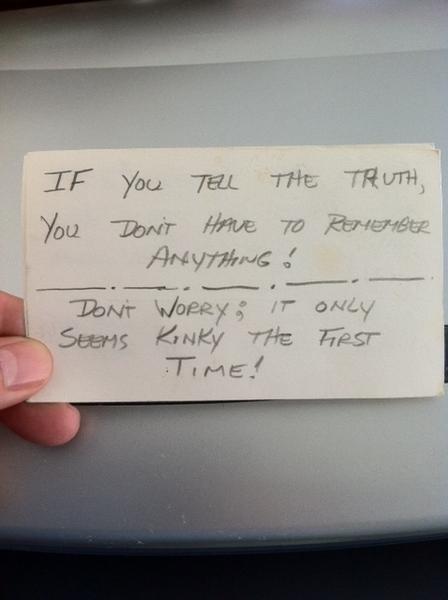 My Father's Handwritten Words of Wisdom