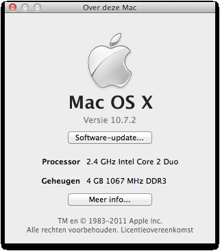 #OSX #Lion 10.7.2 geïnstalleerd. Developers preview. Eens kijken of dit wat bugs oplost.