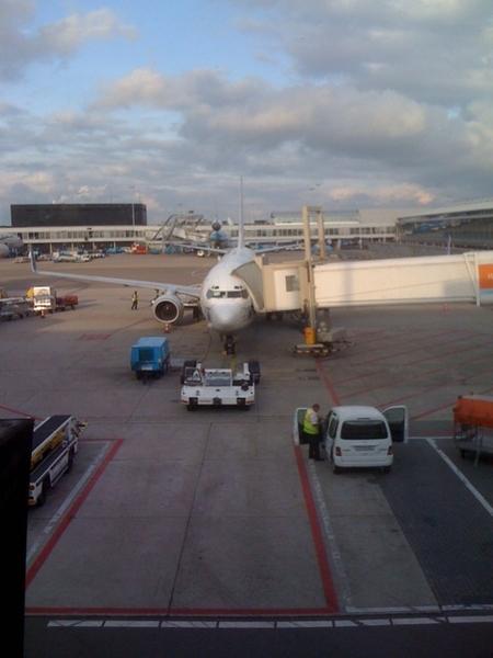 Wachten op vertrek naar Izmir met #Epica