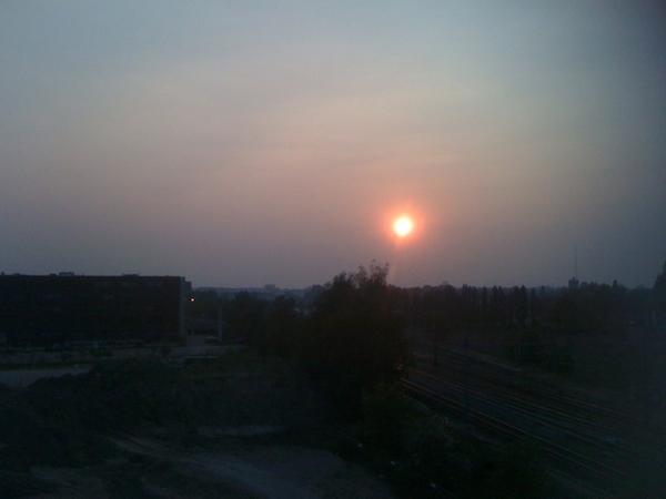 #zonsondergang 20-04-2011 #lente #volgdenatuur