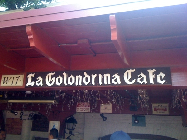 Having lunch at Olvera Street in LA. Ummmmm Mexican food! At my favorite Mexican food spot.
