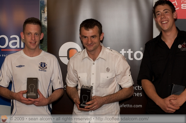 Winners of the ACT Specialty Coffee Championships - held November 22nd, 2009