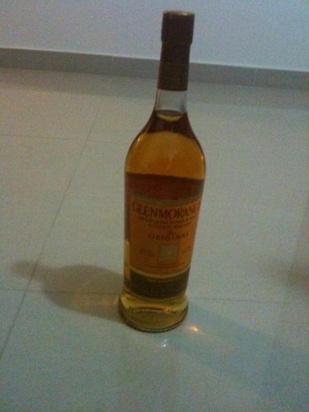 Een maagdelijke fles Glenmorangie