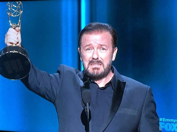 @rickygervais wins the Emmy for Funniest Man in the Universe #Emmys
