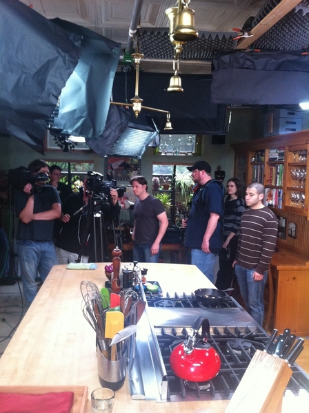 My home kitchen has been invaded by a camera crew! Starting the cooking segs for season 8 of Mex-1 Plate@a Time!