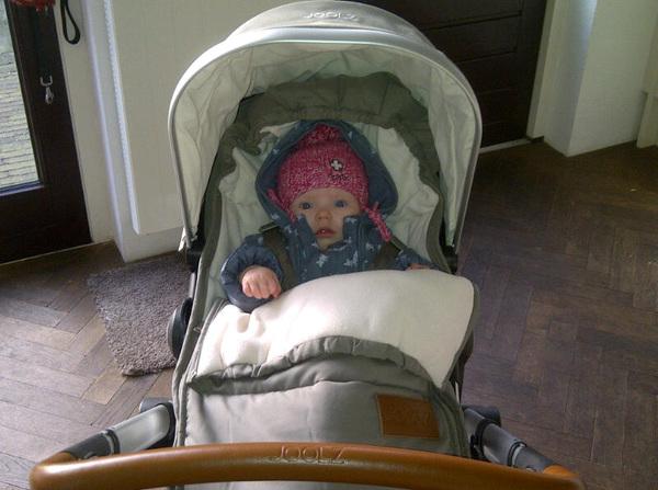 Zo Anna is klaar voor de kou! Nu de kou nog.
